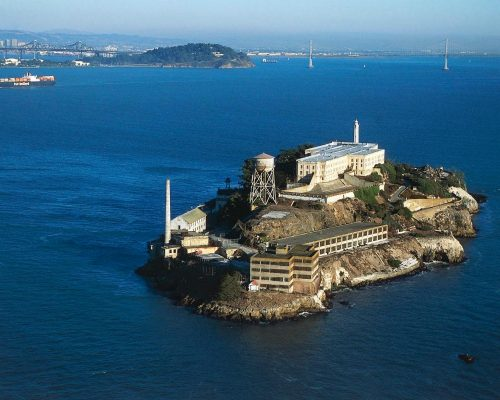 Fleeing to the island of Alcatraz